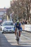 The Cyclist Howard Leigh- Paris Nice 2013 Prologue Stock Image