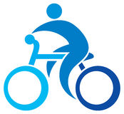 Cyclist icon Stock Image