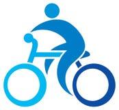 Cyclist icon Stock Image