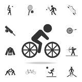 Cyclist icon. Detailed set of athletes and accessories icons. Premium quality graphic design. One of the collection icons for webs. Ites, web design, mobile app Stock Images