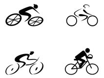Cyclist icons Royalty Free Stock Photo