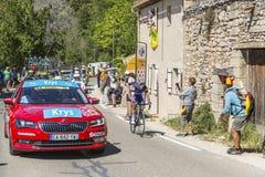 The Cyclist Iljo Keisse on Mont Ventoux - Tour de France 2016 Stock Image