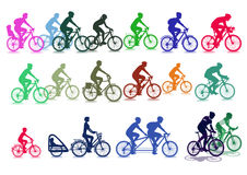 Cyclist illustrations Stock Image