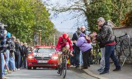 The Cyclist Ilnur Zakarin - Paris-Nice 2016 Stock Photos