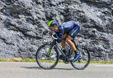 The Cyclist Imanol Erviti Ollo. Chorges, France- July 17, 2013: The Spanish cyclist Imanol Ervit from Movistar Team pedaling during the stage 17 of 100th edition Stock Photo