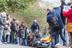 The Cyclist Ion Izagirre - Paris-Nice 2016 Stock Photography