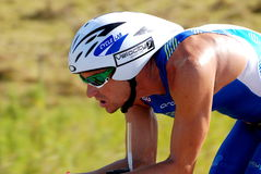 Cyclist (Ironman Raynard Tissink) royalty free stock images