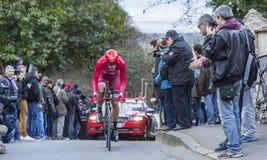 The Cyclist Jacopo Guarnieri - Paris-Nice 2016 Royalty Free Stock Image