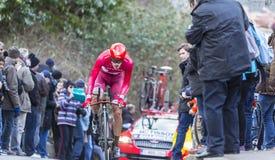 The Cyclist Jacopo Guarnieri - Paris-Nice 2016 Stock Images