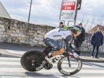 The Cyclist Jacques Janse van Rensburg - Paris-Nice 2016 Stock Images
