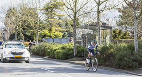 The Cyclist Jacques Janse van Rensburg - Paris-Nice 2016 Stock Photo