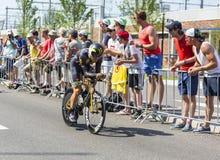 The Cyclist Jacques Janse van Rensburg  - Tour de France 2015 Stock Photo