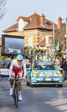 The Cyclist Jakob Fuglsang- Paris Nice 2013 Prologue in Houilles Stock Photography