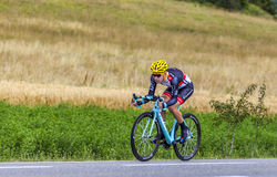 The Cyclist Jan Bakelants. Chorges, France- July 17, 2013: The Belgian cyclist Jan Bakelants from RadioShack-Leopard Team pedaling during the stage 17 of 100th Stock Photography