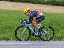 The Cyclist Jan Bakelants Royalty Free Stock Photography
