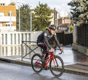 The Cyclist Jempy Drucker - Paris-Nice 2018 royalty free stock image