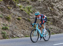 The Cyclist Jens Voigt. Chorges, France- July 17, 2013: The German cyclist Jens Voigt from RadioShack-Leopard Team pedaling during the stage 17 of 100th edition Stock Image