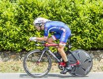 The Cyclist Jeremy Roy - Tour de France 2014 Royalty Free Stock Image