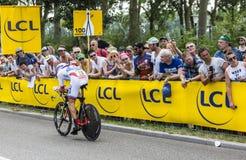 The Cyclist Jeremy Roy - Tour de France 2015 Stock Image