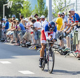 The Cyclist Jerome Coppel - Tour de France 2015 Royalty Free Stock Photos