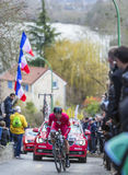 The Cyclist Jerome Cousin - Paris-Nice 2016 Royalty Free Stock Photos