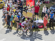 The Cyclist Joaquim Rodriguez on Col du Glandon - Tour de France Royalty Free Stock Photography