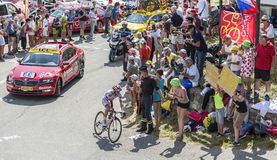 The Cyclist Joaquim Rodriguez on Col du Glandon - Tour de France Royalty Free Stock Photo