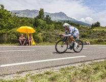 The Cyclist John Degenkolb. Chorges, France- July 17, 2013: The German cyclist John Degenkolb from Argos-Shimano Team pedaling during the stage 17 of 100th Stock Image