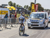 The Cyclist Johnny Hoogerland Stock Images