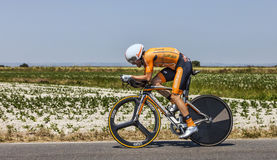 The Cyclist Jon Izagirre Insausti Royalty Free Stock Photography