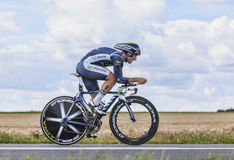 The Cyclist Juan Jose Cobo Acebo Royalty Free Stock Photo