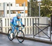 The Cyclist Julien El Fares - Paris-Nice 2018 royalty free stock photography