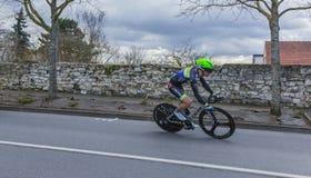 The Cyclist Julien Loubet - Paris-Nice 2016 Stock Photo