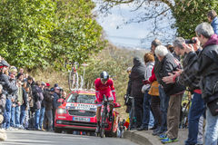 The Cyclist Julien Simon - Paris-Nice 2016 Royalty Free Stock Image