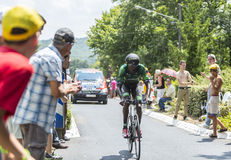 The Cyclist Kevin Reza - Tour de France 2014 Royalty Free Stock Photography