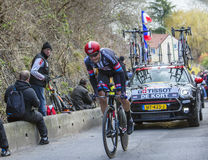 The Cyclist Koen de Kort - Paris-Nice 2016 Royalty Free Stock Images