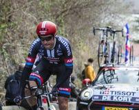 The Cyclist Koen de Kort - Paris-Nice 2016 Royalty Free Stock Image
