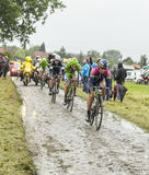 The Cyclist Kristijan Durasek on a Cobbled Road - Tour de France Royalty Free Stock Photography
