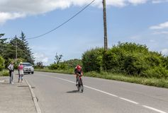 The Cyclist Kristijan Durasek- Criterium du Dauphine 2017 Royalty Free Stock Photography