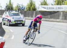 The Cyclist Kristijan Durasek - Tour de France 2014 Royalty Free Stock Photos
