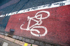 Cyclist lane Stock Photography