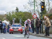 The Cyclist Lars Ytting Bak - Paris-Nice 2016 Stock Photography