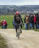 The Cyclist Laurens ten Dam - Paris-Nice 2016 Royalty Free Stock Photos