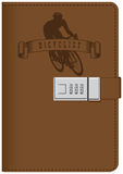 Cyclist leather notepad Royalty Free Stock Photos