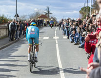 The Cyclist Lieuwe Westra - Paris-Nice 2016 Royalty Free Stock Photo