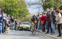 The Cyclist Lilian Calmejane - Paris-Nice 2016 Royalty Free Stock Image