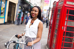 Cyclist in London Stock Image