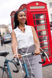 Cyclist in London Royalty Free Stock Image