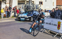 The Cyclist Lopez garcia David- Paris Nice 2013 Prologue in Houi Royalty Free Stock Images