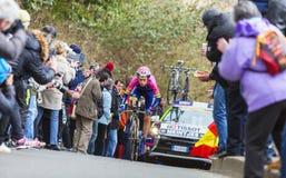 The Cyclist Louis Meintjes - Paris-Nice 2016 Royalty Free Stock Image